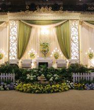 dekorasi pelaminan pengantin modern minimalis
